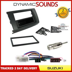 Single-or-Double-DIN-Black-Fascia-ISO-Loom-Fitting-Kit-For-Suzuki-SWIFT-2005-10
