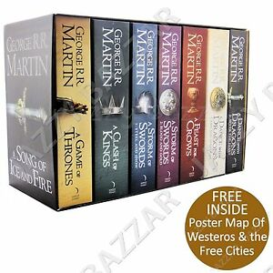Game-of-Thrones-Book-Set-7-Volume-Box-Set-A-Song-of-Ice-amp-Fire-George-R-R-Martin