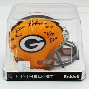 Dave-Robinson-Signed-Green-Bay-Packers-Mini-Helmet-w-3-Inscriptions-PSA-DNA