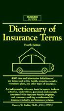 Dictionary of Insurance Terms (Barron's Business Guides) by Harvey W. Rubin