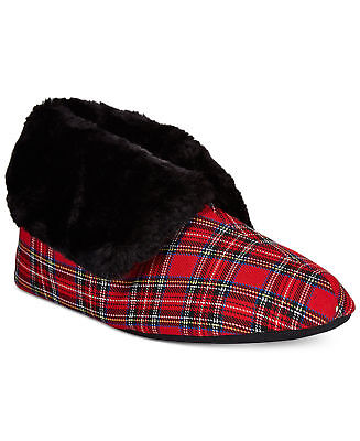 Charter Club Buffalo Plaid Memory Foam Slippers Size M NEW with tag /& box