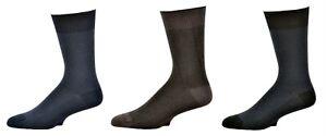 Sierra-Socks-Men-039-s-Bamboo-Herringbone-Dress-Casual-Solid-M1659