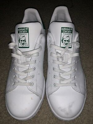 new arrival 76005 1be92 Youth / Womens Adidas Stan Smith Classic Sneakers New, White / Green M20605  | eBay