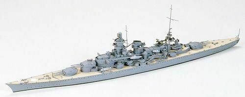 Tamiya - 1/700 German Scharnhorst Battleship Plastic Model Boat Kit