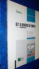 G7:IL VERTICE DI TOKYO.DOSSIER SECONDA PARTE.ANSA BOOK+FLOPPY DISK.1975/1993