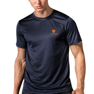 Details about Men's Cool Dry Sport Shirts Quick-dry Athletic Gym Running  Breathable Top Plain