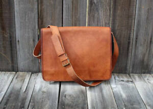 5d5b1f2e22 New Men s Vintage Brown Leather Full Flap Messenger laptop bag ...