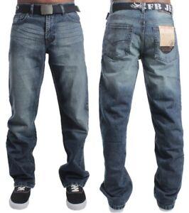 49a16f6e5de New Mens Straight Leg Jeans Basic Heavy duty Work Wear Denim Waist ...
