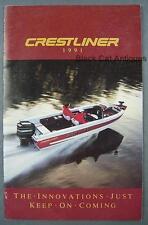 Original 1991 Crestliner Boats Dealer Sales Brochure - 35 Models Featured