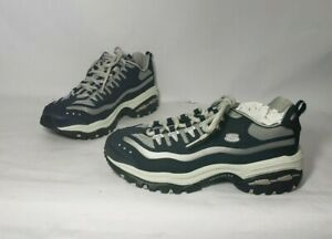 Skechers Sport Energy 2 Blue White Gray Sneakers