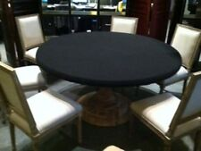 "Black Poker  Felt Table cloth for 60"" round elastic edge - MTO"