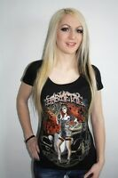 Barmetal Clothing Gangster Scoop Neck Womens Heavy Metal T Shirt Small
