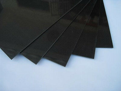 250x500x1mm Carbon Fiber Plate Panel Sheet 3K Plain Weave