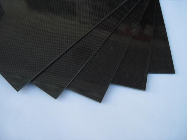 200*250*1.6mm Carbon Fiber Plate Panel Sheet 3K Plain Weave