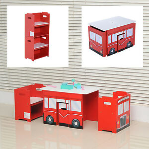 Wooden bus like table and chairs set for kids children for 99 bus table