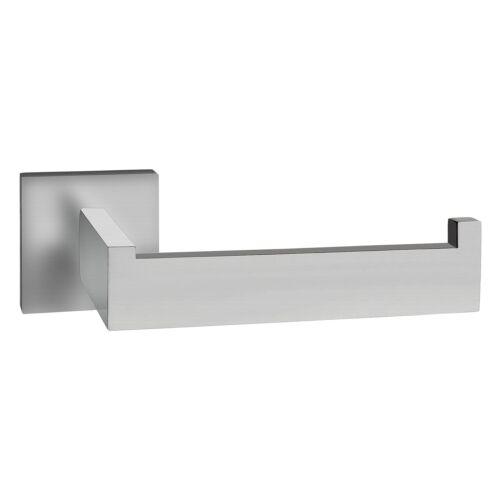 Toilettenpapierhalter eckig Edelstahl SUS-304 matt gebürstet rostfrei Design Hal
