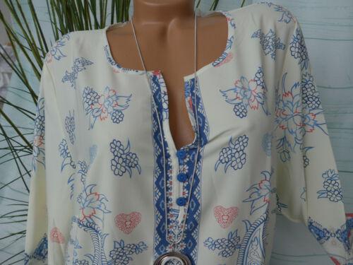 NEUF Dressin femmes Chemisier shirt doux descendant Taille 50 à 54 A MOTIF 609