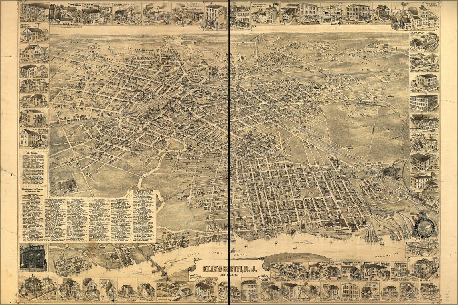 Poster, Molte Molte Molte Misure; Mappa Del Elisabetta Nuovo Maglia c61e04