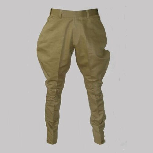 Edwardian Men's Pants, Trousers, Overalls    Mens Traditional Khaki Jodhpurs Trousers Equestrian Pants Riding Sports Breeches £77.00 AT vintagedancer.com