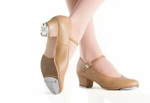 New-Box-Bloch-S0323L-Ladies-Tan-Showtappers-Tap-Shoes-1-1-2-034-Cuban-heel-Leather