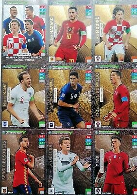 TOP MASTER x 9 ROAD TO UEFA EURO 2020 PANINI ADRENALYN XL RARE CARDS RONALDO NEW