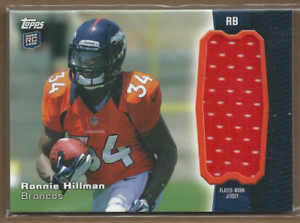 Details about 2012 Topps Rookie Relic Jumbos #RJRRH Ronnie Hillman Jersey - NM-MT