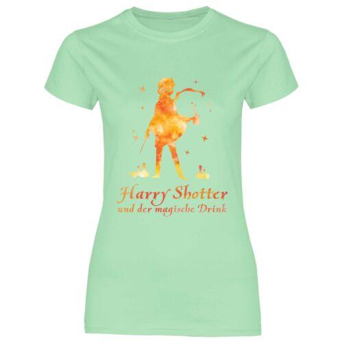 Royal Shirt a37 Damen T-Shirt Harry Shotter und der magische Drink Funshirt JGA