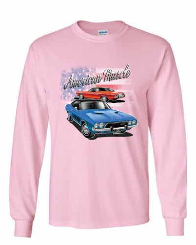 Dodge Challenger American Classic Long Sleeve T-Shirt American Muscle Car Tee