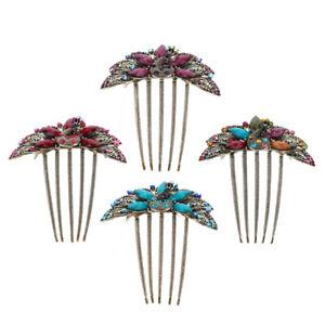 Bridal-Wedding-Hair-Jewelry-Crystal-Rhinestone-Diamante-Hair-Comb-Clip-Pins