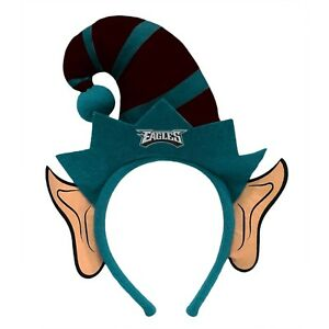 a460af9ed Image is loading Philadelphia-Eagles-Elf-Ears-Headband-Holiday-Hat-NEW-