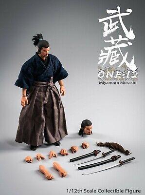 DOLLSFIGURE 1//6 Miyamoto Musashi Male Head Carving Fit 12/'/' Action Figure