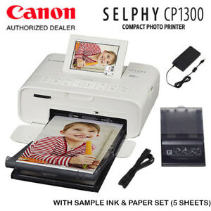 New Canon Selphy Cp1300 Wireless Compact Photo Printer White