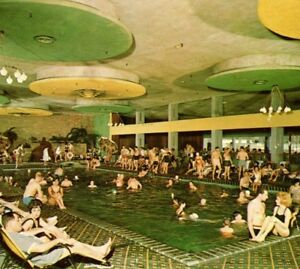 The-Nevele-Country-Club-Ellenville-NY-Waikiki-indoor-pool-Vintage-Postcard