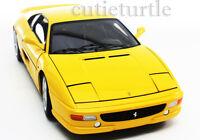 Hot Wheels Elite Ferrari F355 Berlinetta 1:18 Diecast Yellow X5479
