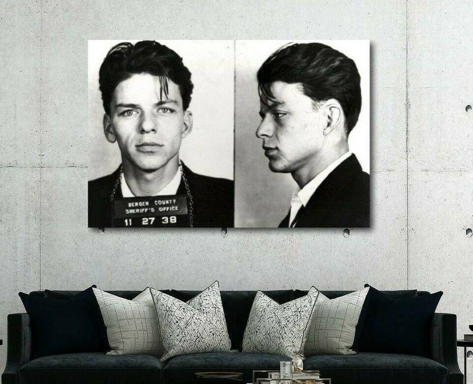 Frank Sinatra Mugshot Bergen County Decor Wall Print Poster