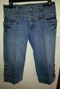 4f03a6ad03d Baby Phat Blue denim jean Capri cropped pants Women s Size 9 New w ...