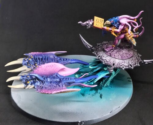 Herald Of Tzeentch On Flaming Chariot Pro Painted To Order