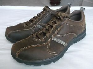 Details about Skechers 64224 Superior Levoy Men's Brown Leather Oxfords 8M