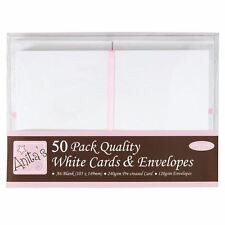 A6 Blank Cards & Envelopes WHITE Pack of 50 ANT 1511020