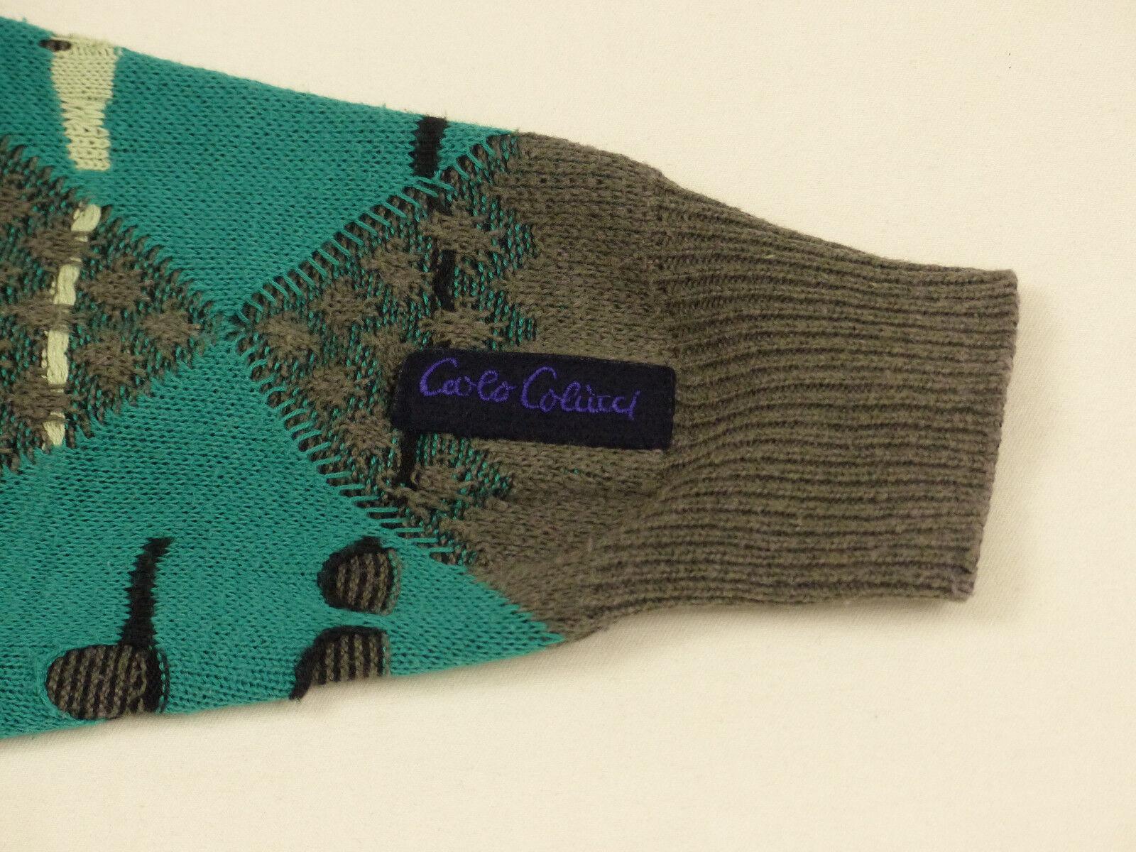 Carlo Colucci Décontracté Retro Pull Gris Multicolore Torsion Vintage Vintage Vintage Taille:L 7de6d3
