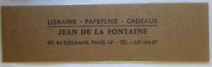 Antique-Brand-Pages-Bookmark-Advertising-Bookstore-Jean-de-La-Fountain-Paris-16e