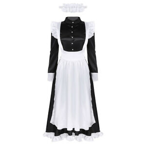 Women-039-s-Sexy-Maid-Outfit-Costume-Uniform-Fancy-Dress-Role-Play-Cosplay-Halloween