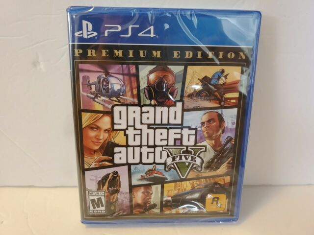 Grand Theft Auto V Premium Online Edition Ps4 SEALED NEW!
