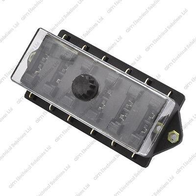 12v//24v Automotive /& Marine Compatible 6 Way Blade Fuse Box /& Screw On Cover