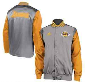 fc73ef75223 NBA Los Angeles Lakers adidas Mens Official On-Court Warm-Up Jacket ...