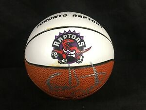 Toronto Raptors EARL CURETON AUTO Autographed Signed MINI BASKETBALL 1996-97