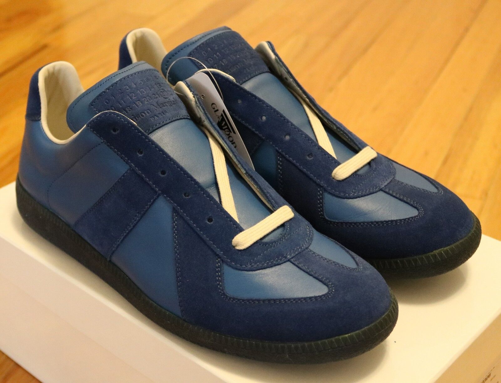 Maison Martin Margiela GATs Low bluee Leather Suede Size 39 40 40.5 41.5 42 43.5
