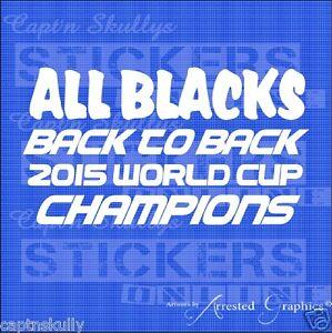 ALL BLACKS BACK 2 BACK Decal 190X105mm Captn Skullys Stickers Online MPN 2058