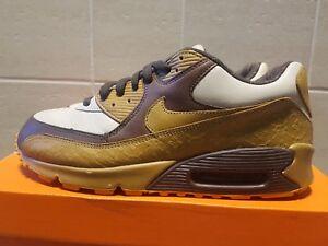 Details about Nike Air Max 90 Premium It Chocolate Wheat Skulls Sz 9.5 313650 271