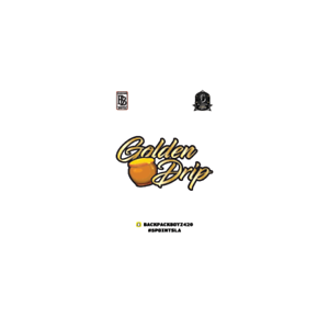 Backpack Boyz Golden Drip Cali Tin Labels Mylar Bag Stickers